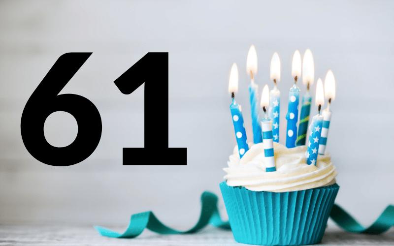 Glückwünsche zum 61. Geburtstag