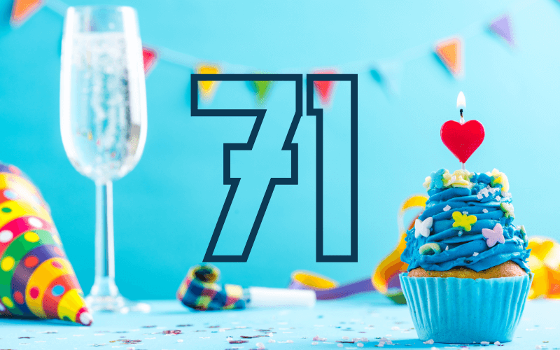 Glückwünsche zum 71. Geburtstag