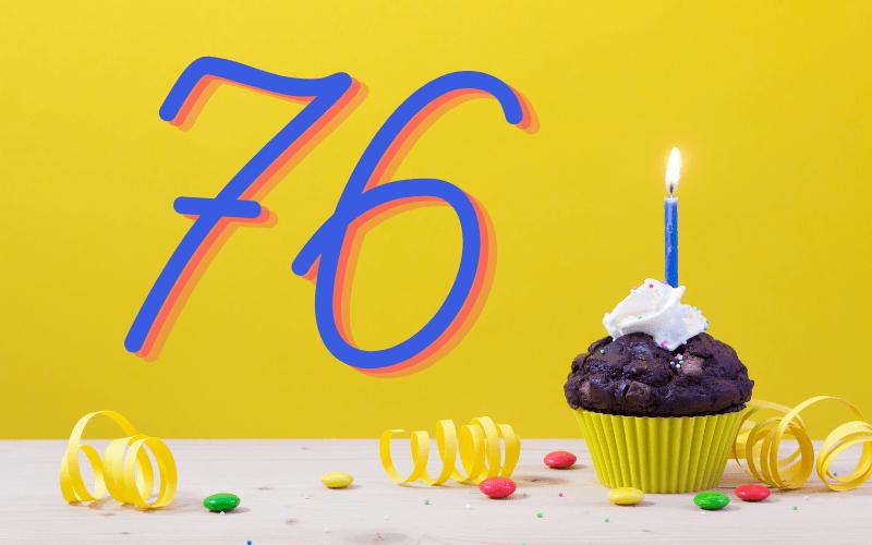 Glückwünsche zum 76. Geburtstag