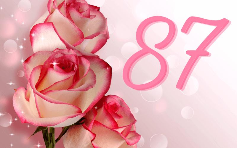 Glückwünsche zum 87. Geburtstag