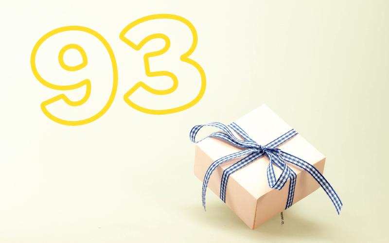 Glückwünsche zum 93. Geburtstag