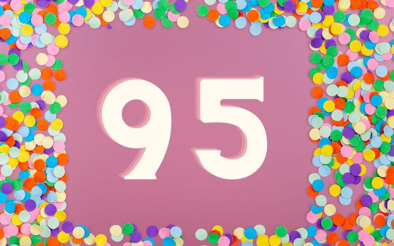 Glückwünsche zum 95. Geburtstag