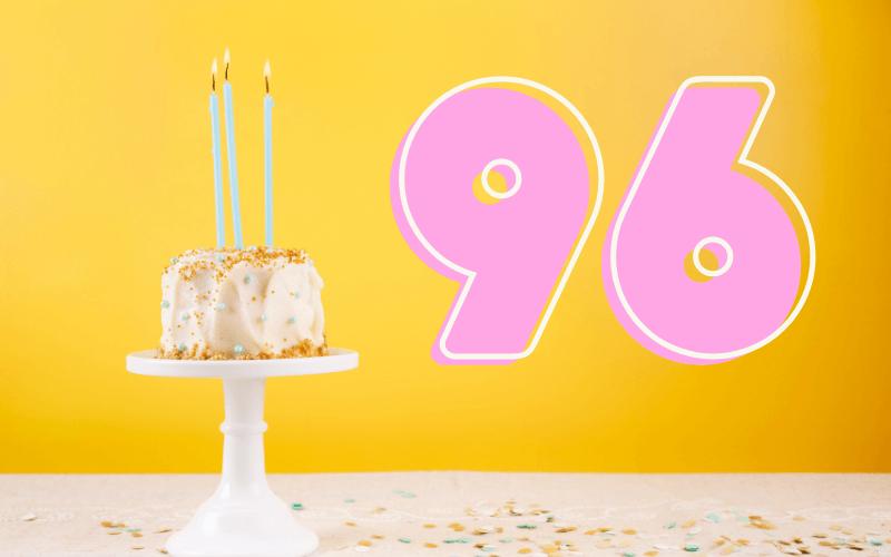Glückwünsche zum 96. Geburtstag