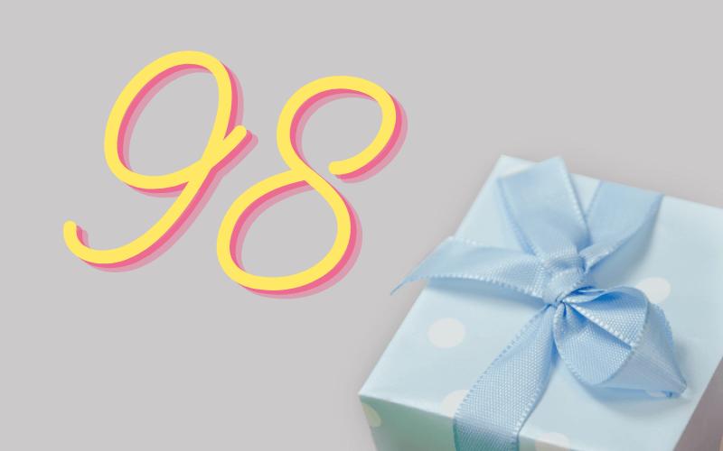 Glückwünsche zum 98. Geburtstag