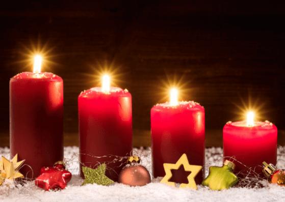 4. Advent Weihnachtskarten zum Ausdrucken