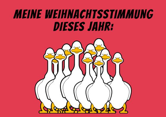 Freche Weihnachtskarten mit Humor