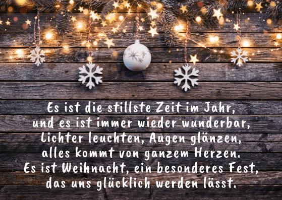 Geschäftliche Weihnachtskarten mit Gedichten