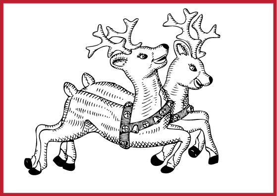 Gezeichnete Weihnachtspostkarten