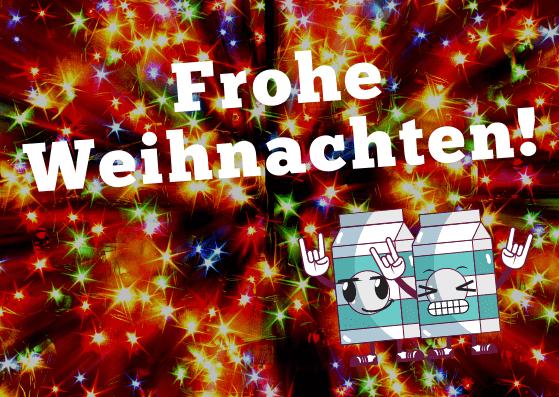 Lustige Weihnachtskarten für Freunde