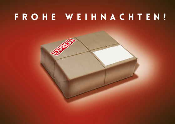 Weihnachtskarten für Briefträger
