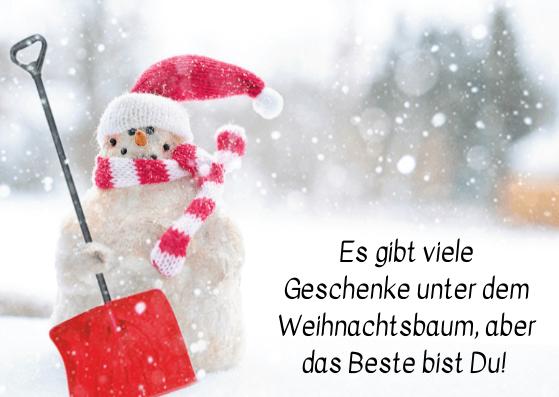 Weihnachtskarten für Freunde