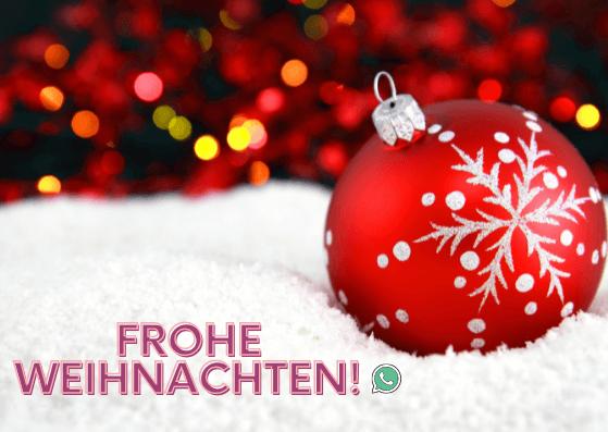 Weihnachtskarten für WhatsApp