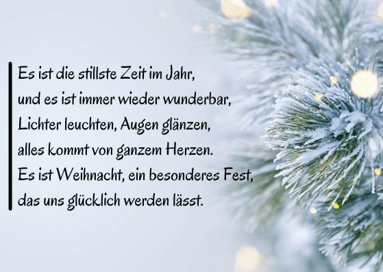 Weihnachtskarten mit Text