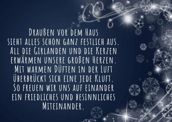Weihnachtskarten mit Weihnachtsgedicht