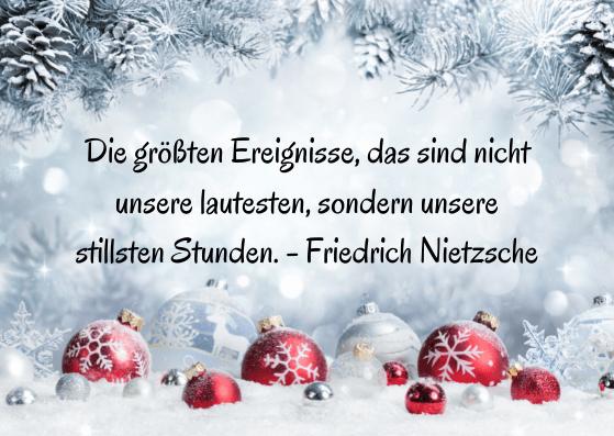 Weihnachtskarten mit Zitat
