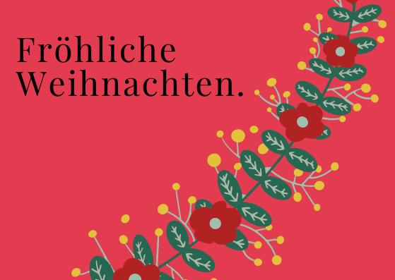 Weihnachtspostkarten für Geschäftspartner