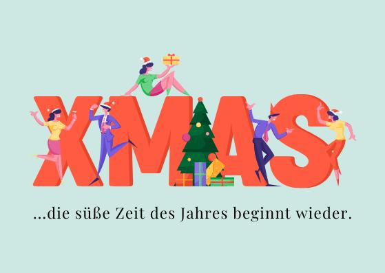 Weihnachtspostkarten für Kollegen