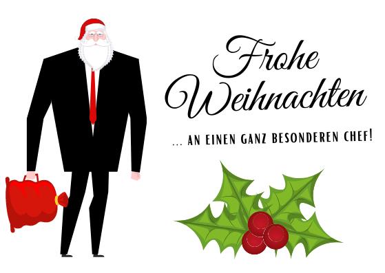 Weihnachtskarten für Chefs