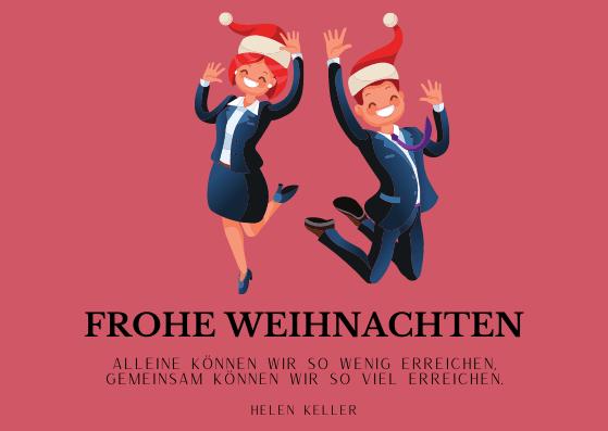 Weihnachtskarten für Geschäftspartner