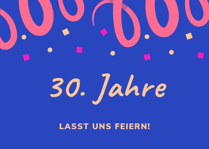 Klassische Einladungstexte zum 30. Geburtstag