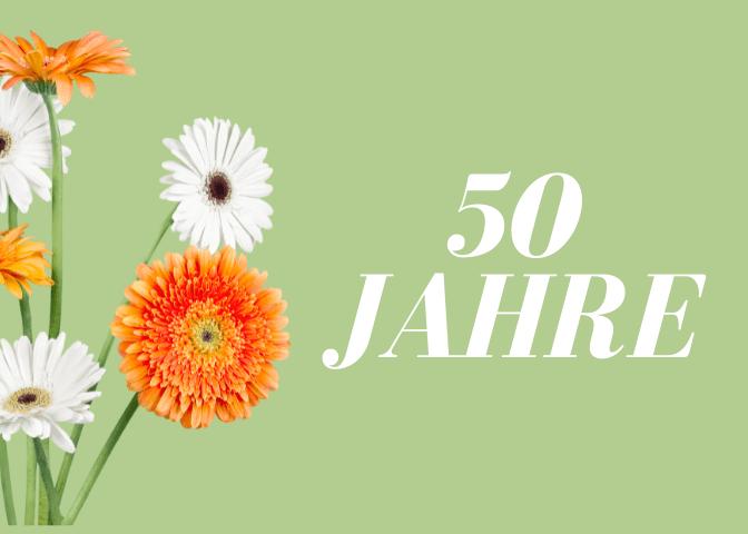 Kurze Einladungstexte zum 50. Geburtstag