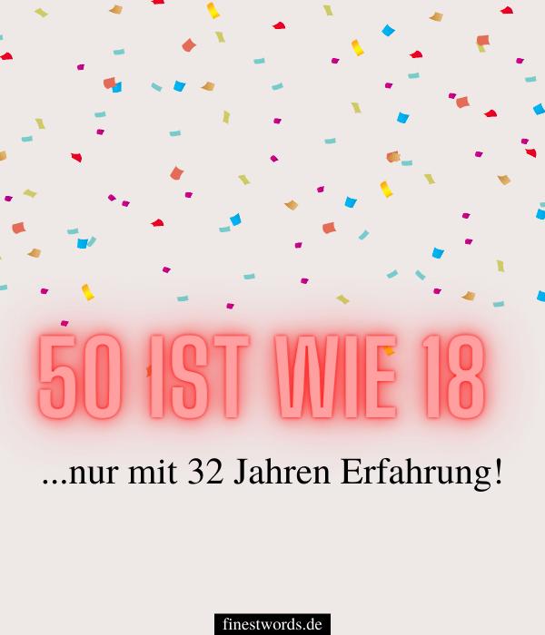Lustige Sprüche zum 50. Geburtstag