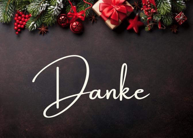 danksagung weihnachten
